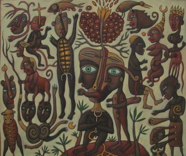 110x90 acrylique sur toile 2001 coll.privée