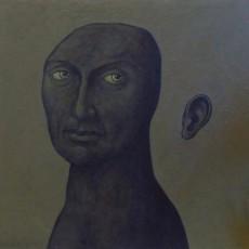 confinement III acrylique sur toile 60×60