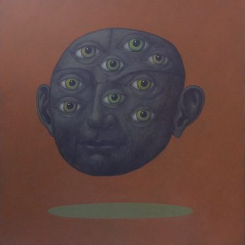Confinement VI acrylique sur toile 100×100