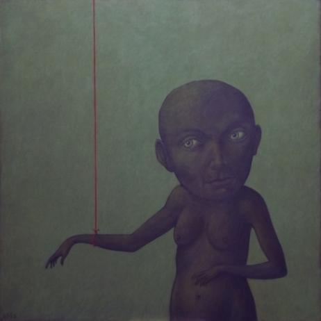 Confinement VII acrylique sur toile 80x80